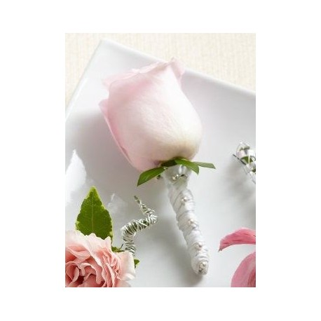Pink Rose Boutonniere