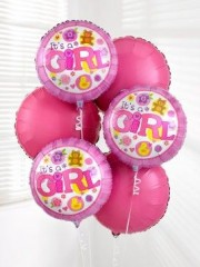 Baby Girl Balloon Bouquet