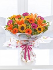 Large Dazzling Sunflower Hand-Tied