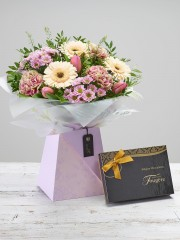 Mother's Day Pretty Gift Box with Chocolates