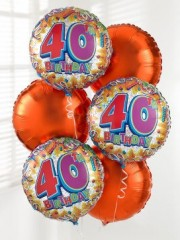 40th Birthday Balloon Bouquet