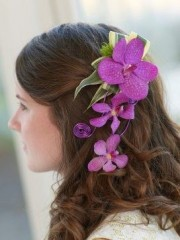 Pink Orchid Hair Comb