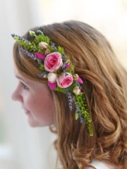 Rose and Lavender Hair Comb